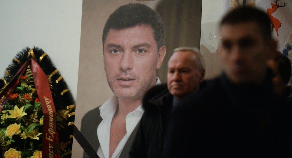 Cérémonie d'adieu à Boris Nemtsov