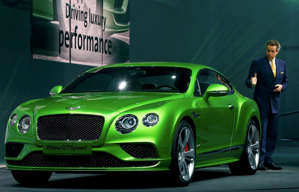 Wolfgang Durheimer (Bentley) devant  Continental GT Speed