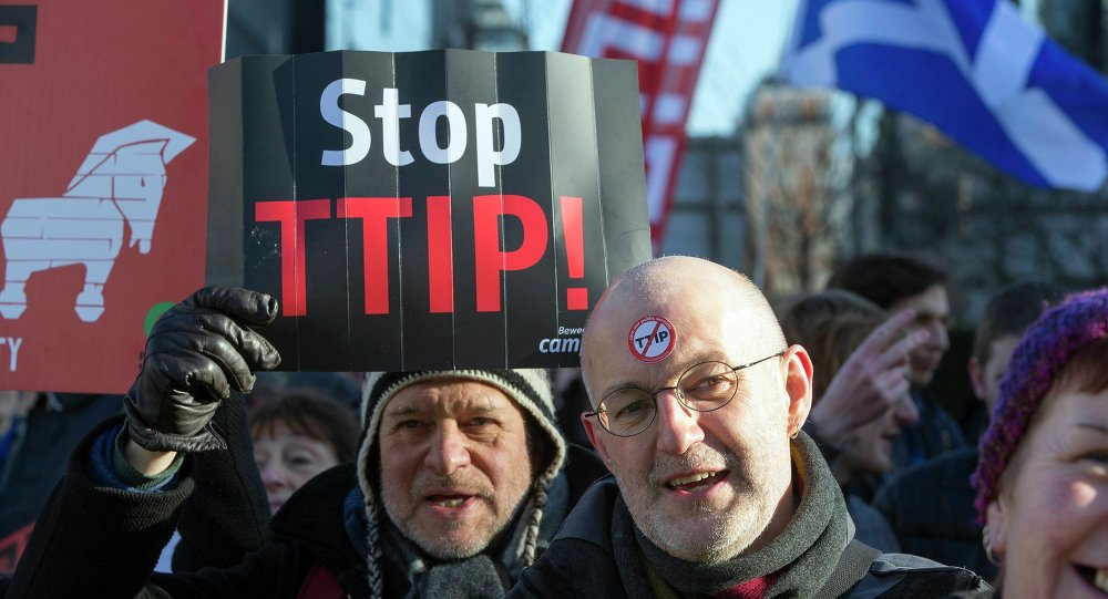 Protestation contre le TTIP (archives)