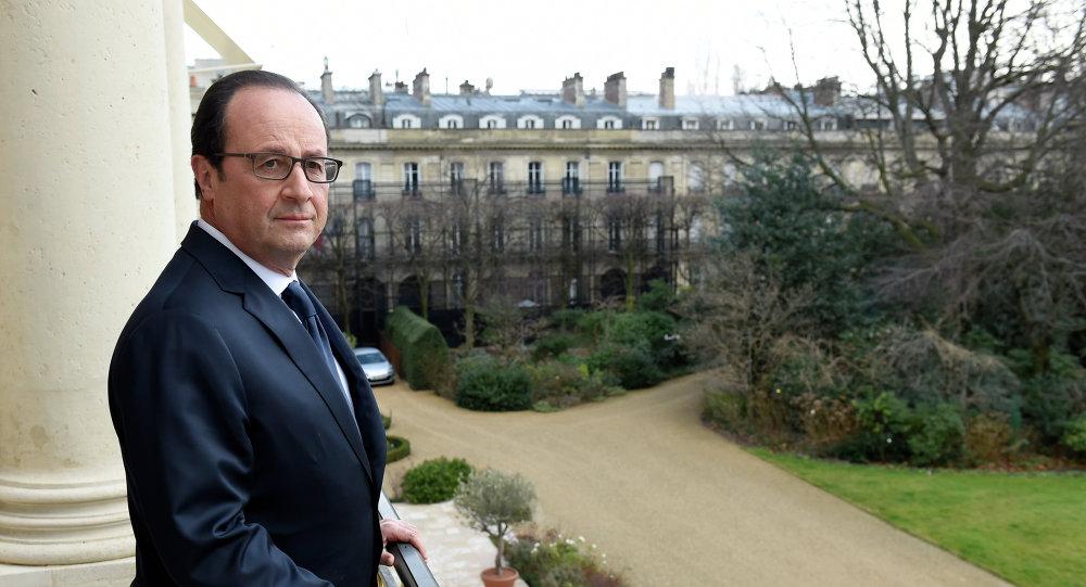 Le président français François Hollande à l'Elysée, février 2015