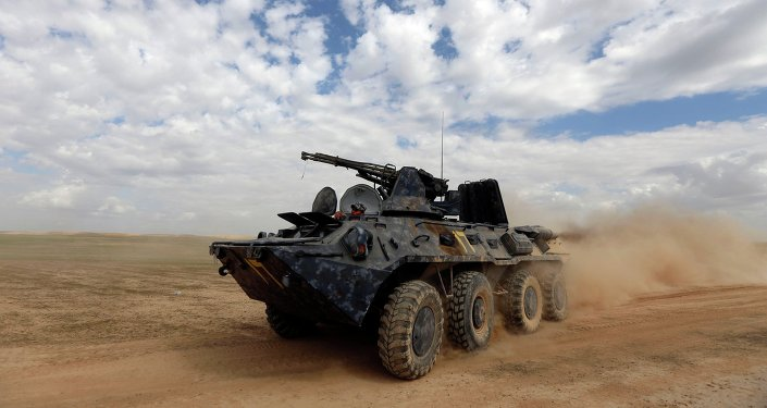 Un blindé irakien