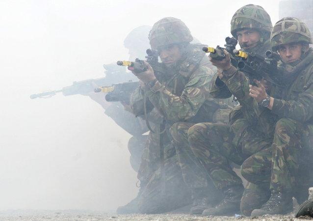 Soldats britanniques lors des exercices de l'Otan  (Archives)