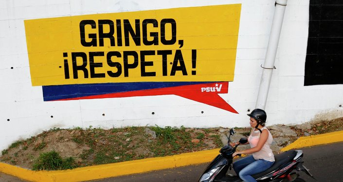 Inscription 'Gringo, respecte-nous!' à Caracas