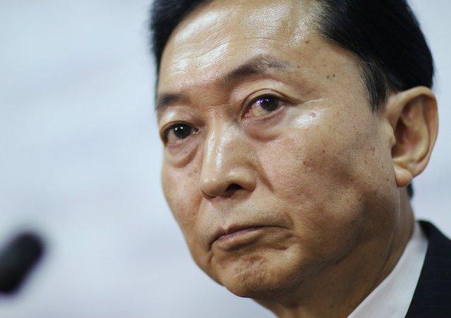 Yukio Hatoyama, ex primer ministre de Japón, en Simferópol