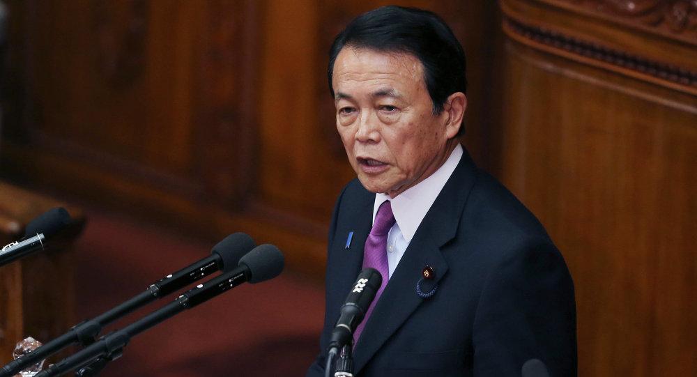 Le ministre nippon des Finances Taro Aso