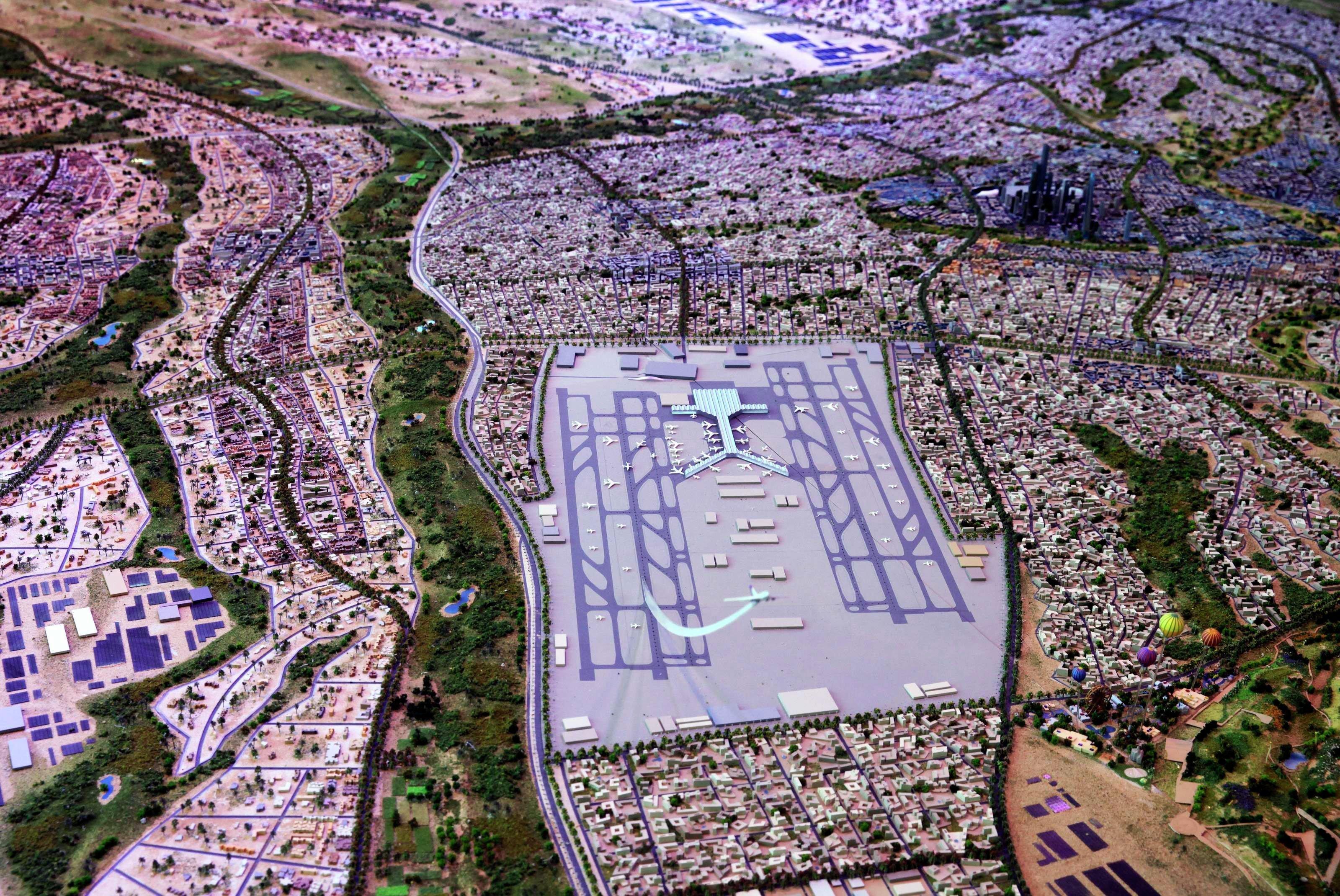 Une maquette de la nouvelle capitale égyptienne