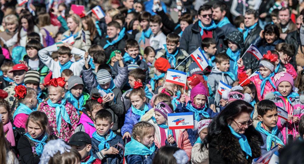 Simferopol fête le premier anniversaire du rattachement de la Crimée à la Russie