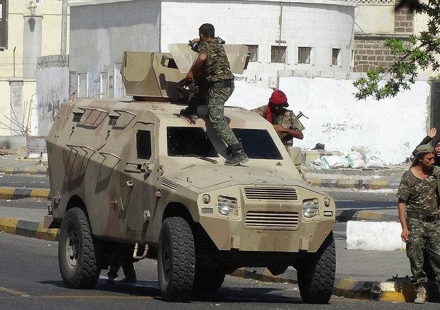 Forces de sécurité yéménites dans les rue d'Aden (Archives)