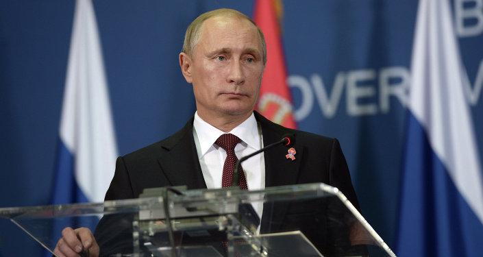 Vladimir Poutine en Serbie