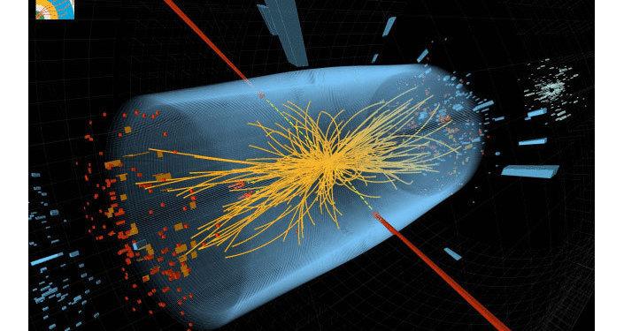 Une collision de protons