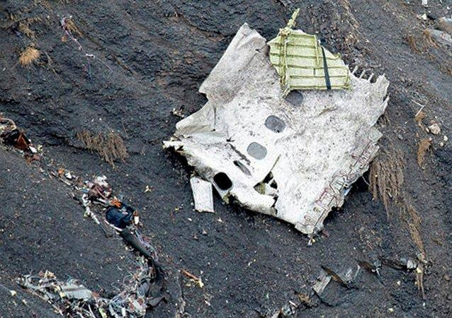 Un débris de l'Airbus A320 de Germanwings tombé dans les Alpes