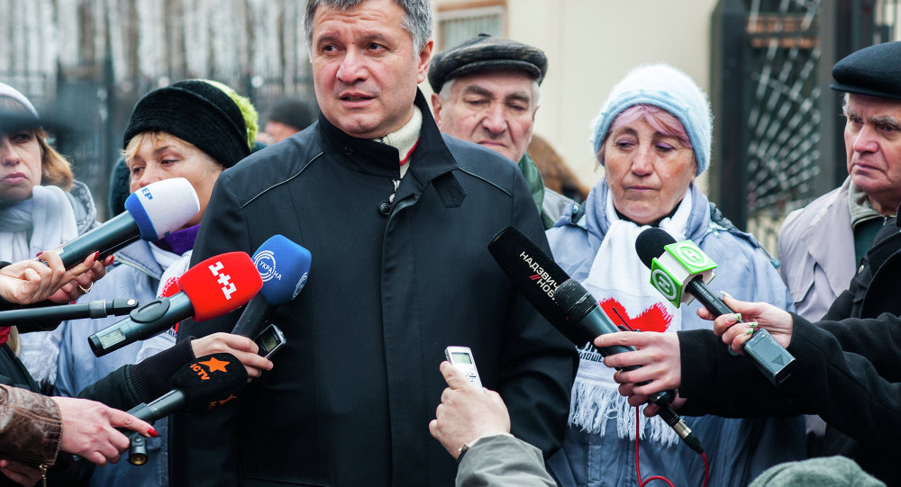 Le ministre ukrainien de l'Intérieur Arsen Avakov
