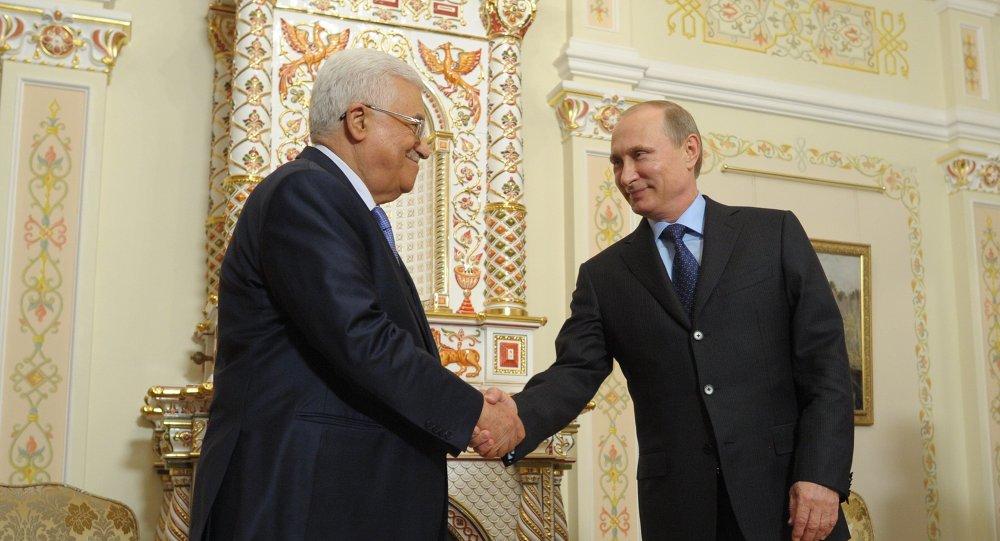 Vladimir Poutine et Mahmoud Abbas