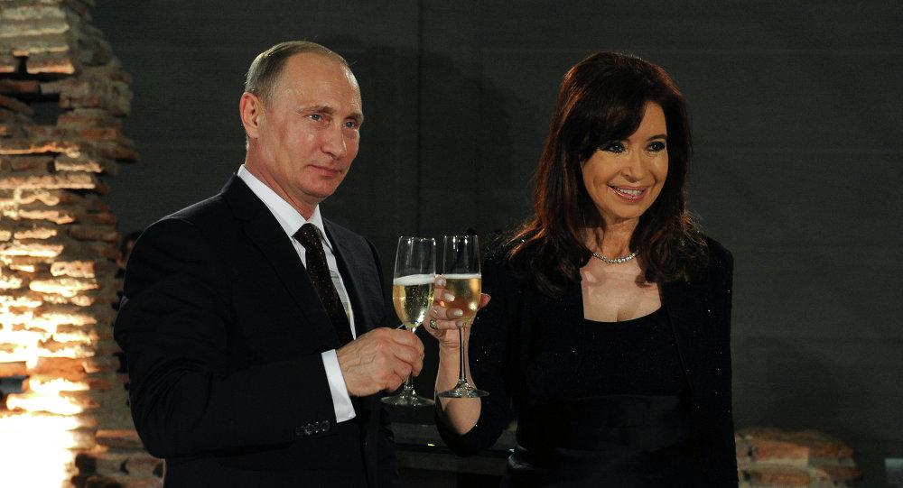 Vladimir Poutine et Cristina de Kirchner