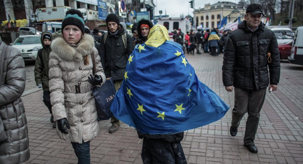 Une passante à Kiev