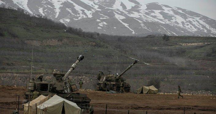 Plateau du Golan. Soldats israéliens à la frontière avec la Syrie