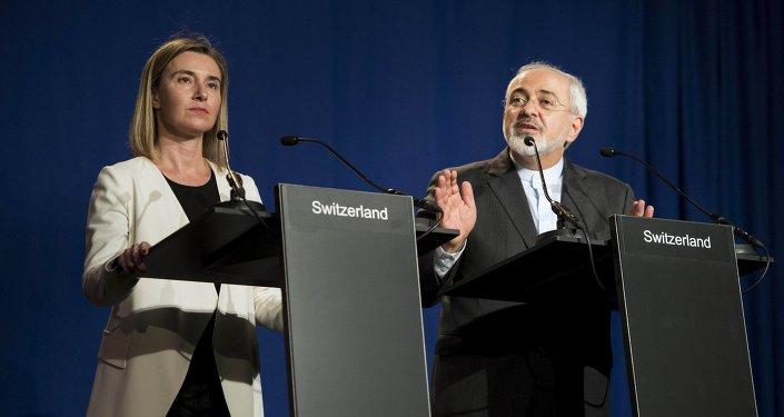 Javad Zarif et Federica Mogherini, Ap. 2, 2015