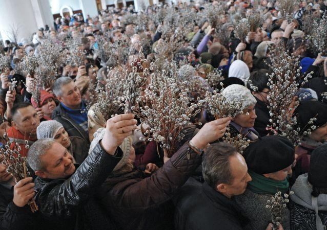 La Russie fête le dimanche des Rameaux