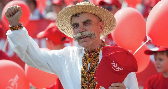 Marche des communistes à Kiev