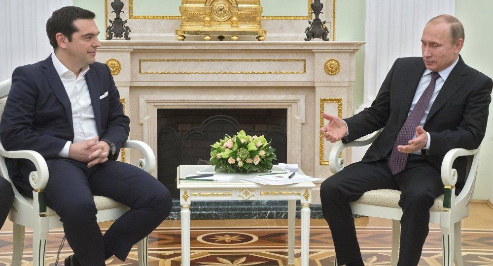 Vladimir Poutine et Alexis Tsipras