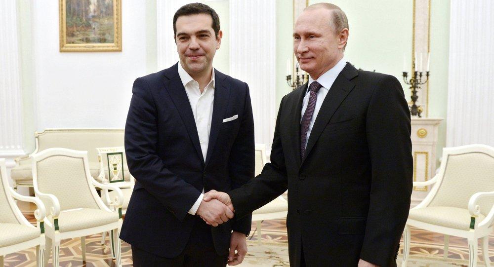 Le président russe Vladimir Poutine et le premier ministre grec Alexis Tsipras