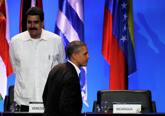 Barack Obama et Nicolas Maduro. Archive photo