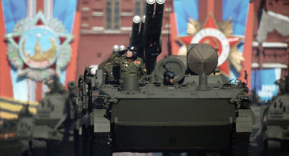 Défilé de la Victoire sur la place Rouge à Moscou