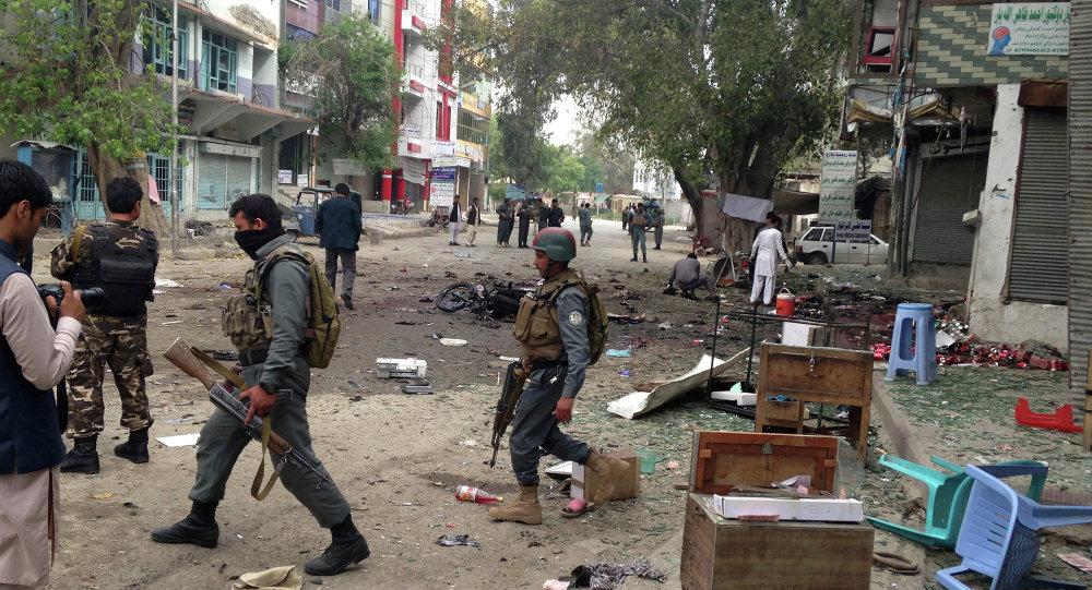 Lieu de l'attentat à Jalalabad