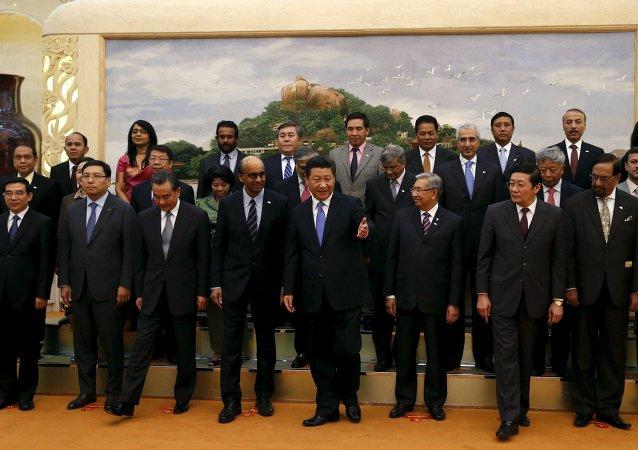 Cérémonie de lancement de l'AIIB (2014)