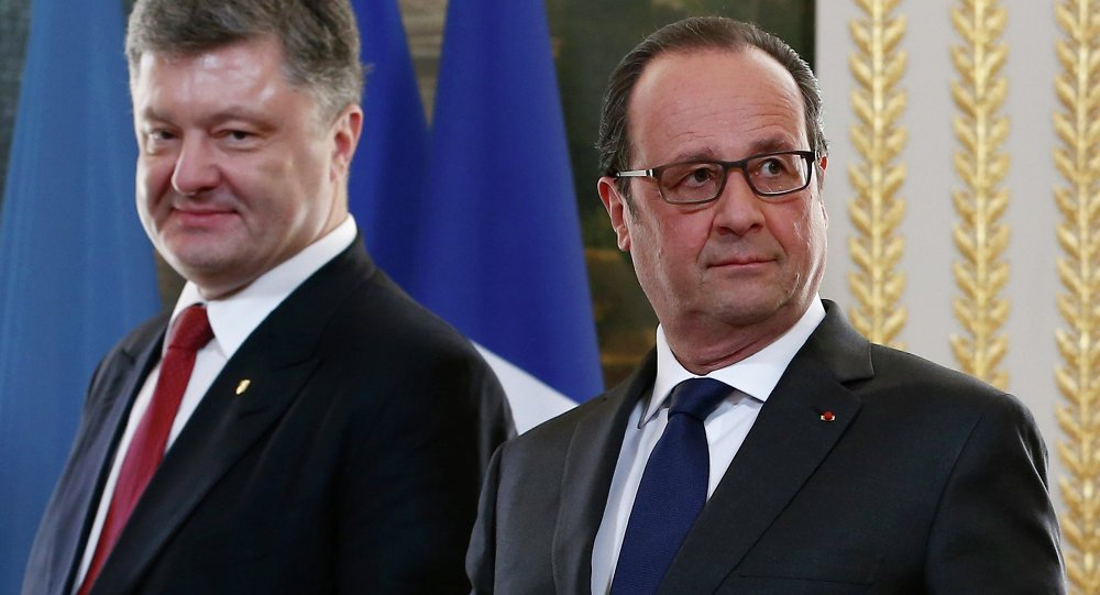 Piotr Porochenko et François Hollande, avril 2015