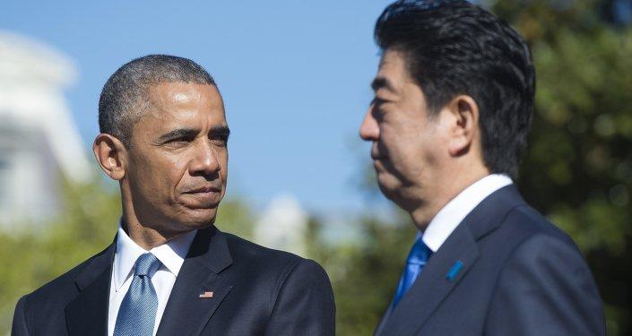 Le président américain Barack Obama et le premier ministre japonais Shinzo Abe