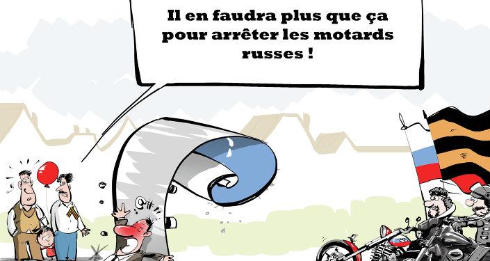 La Pologne interdit le passage de motards russes