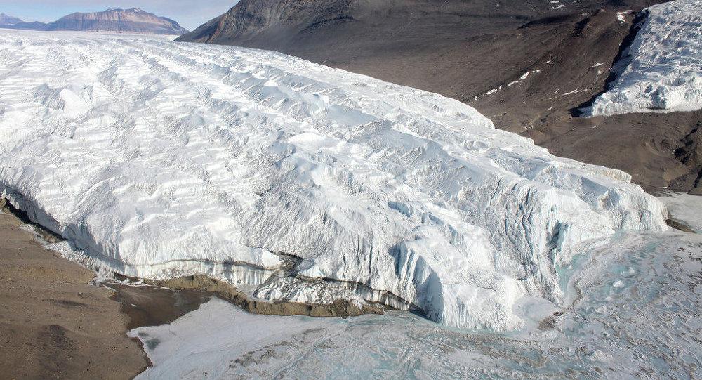 Glacier Taylor. Antarctique
