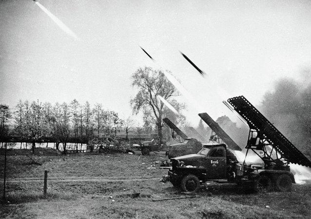 LRM Katioucha lors des combats à la Seconde Guerre mondiale