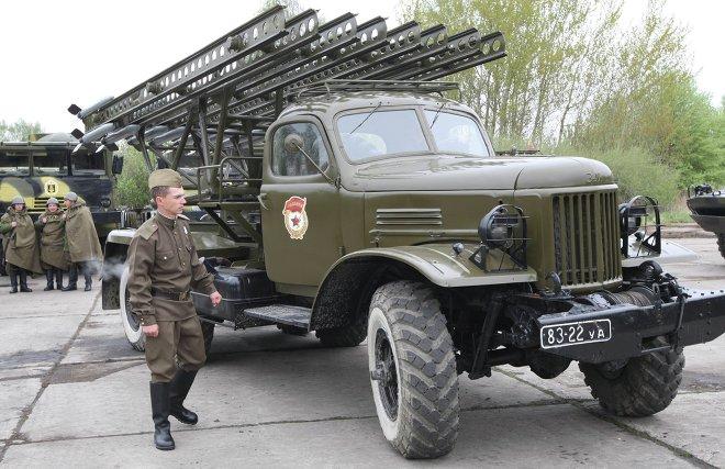 LRM Katioucha lors des préparations pour la Parade de la Victoire dans la région de Kaliningrad (Archives)