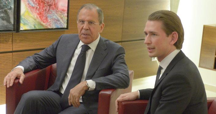 Sergueï Lavrov et Sebastian Kurz. Archive photo