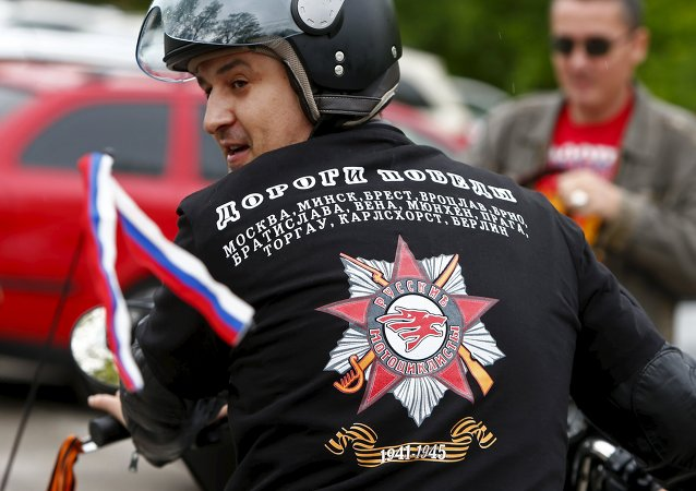 Motards du club russe Loups de la nuit