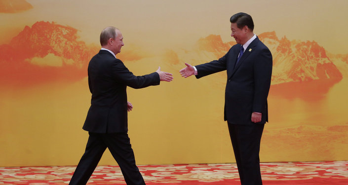 Vladimir Poutine et  Xi Jinping. Archive photo