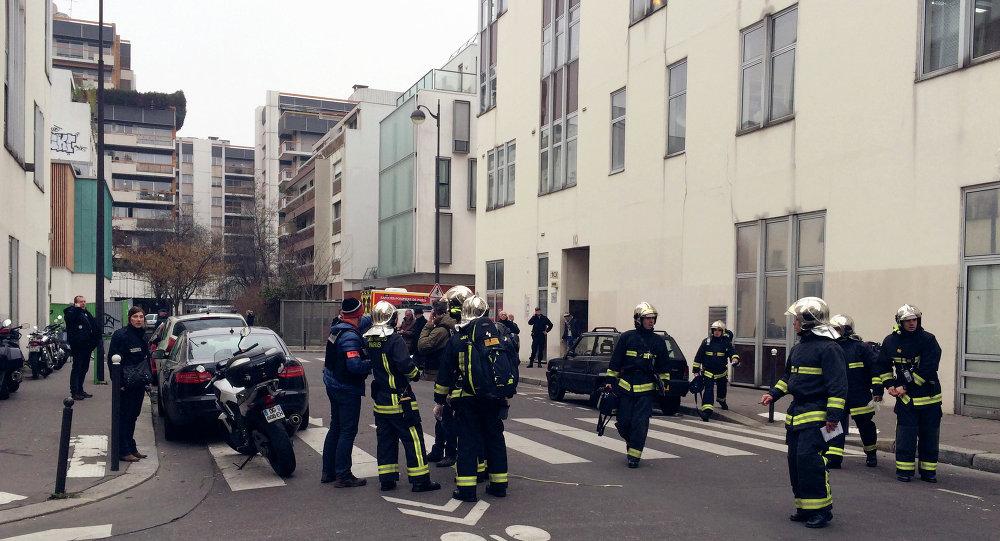 Près du siège de Charlie Hebdo