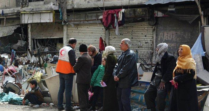 Syrie: le camp de réfugiés de Yarmouk, près de Damas