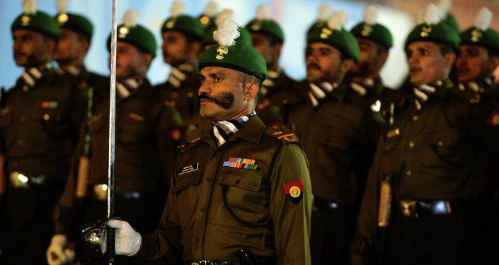 Militaires indiens à la répétition du Défilé de la Victoire à Moscou
