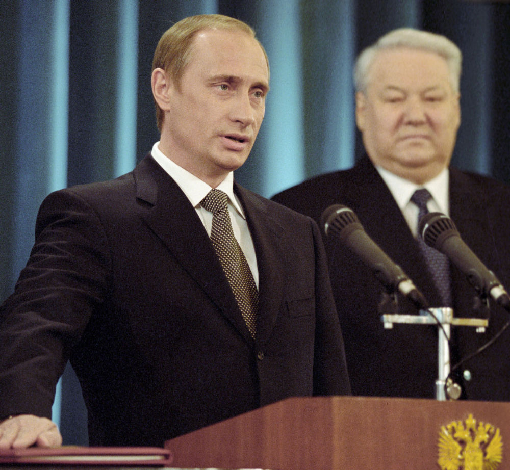 Vladimir Poutine et Boris Eltsine