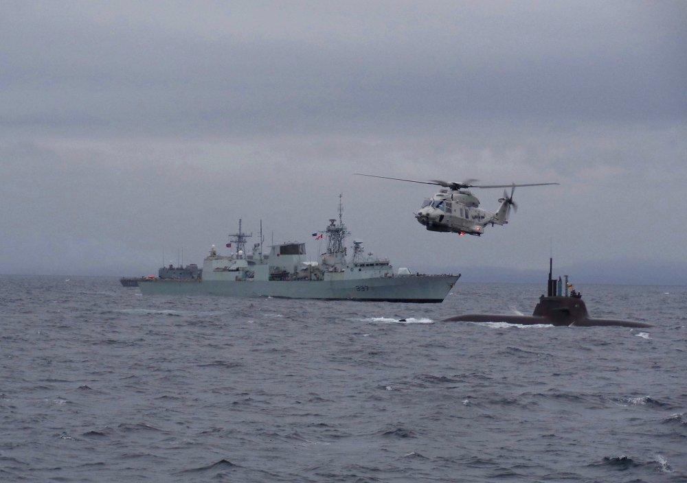 Norvège: exercices navals de l'Otan Dynamic Mongoose 2015