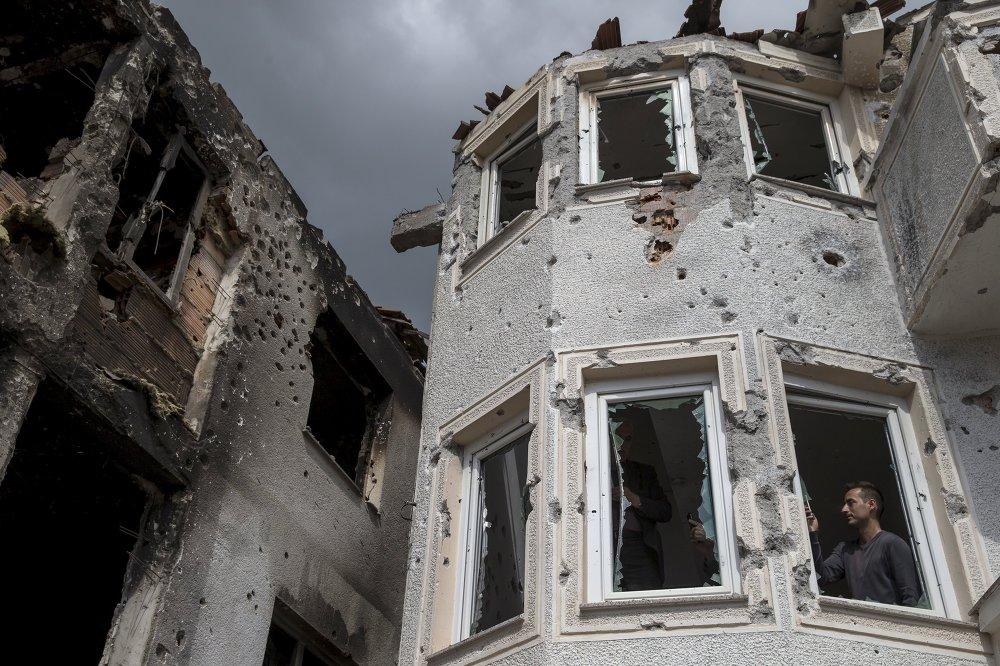 Une maison détruite à Kumanovo