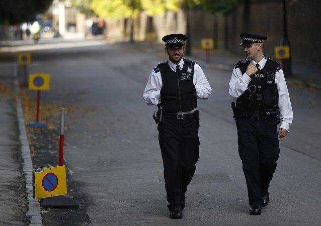 Police britannique. Image d'illustration