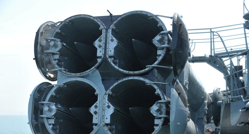 Missiles de croisière à bord d'un navire militaire russe (archives)