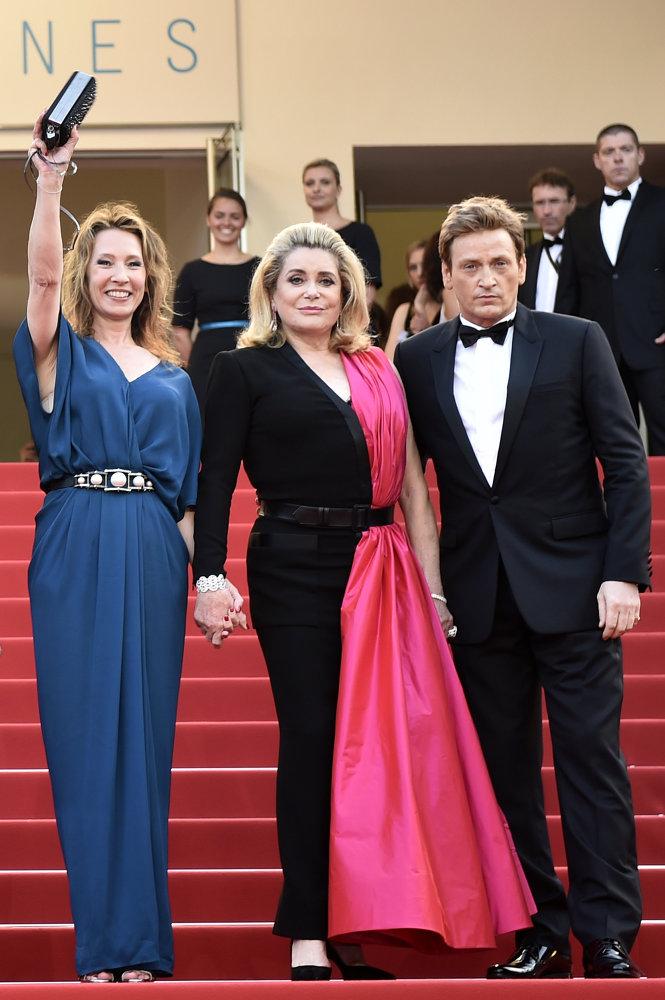 Catherine Deneuve lors de la cérémonie d'ouverture du 68e Festival de Cannes