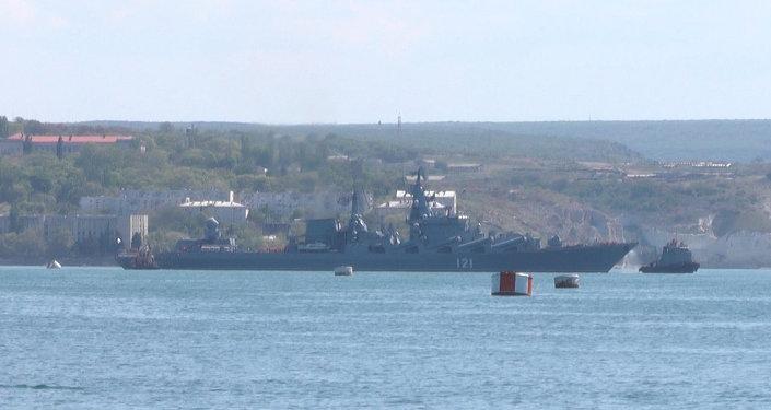 Un croiseur lance-missiles russe en partance pour la Méditerranée
