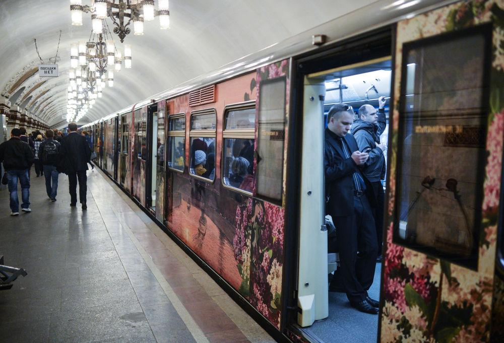 La rame Aquarelle circule dans le métro de Moscou depuis 2007
