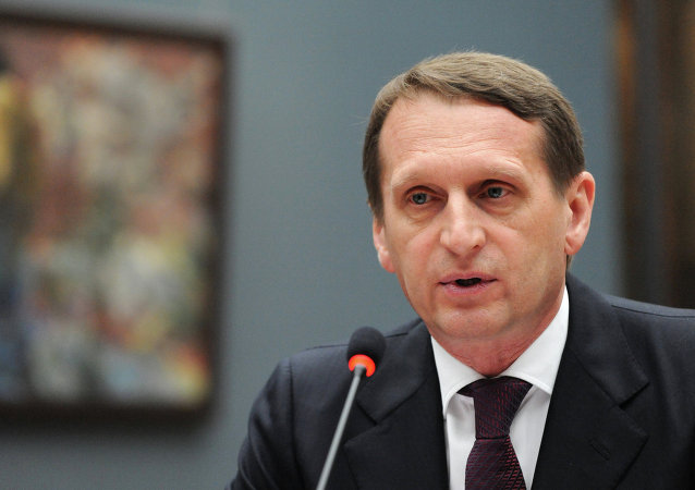 Le président de la Douma Sergueï Narychkine